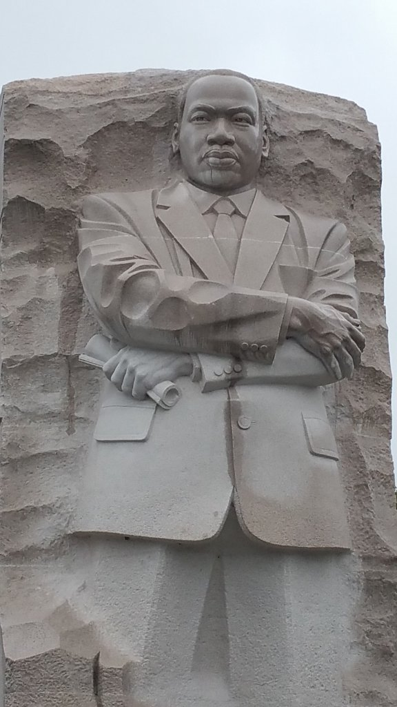 Close up of the Martin Luther King, Jr. Memorial
